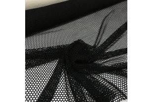 Сетка трикотажная манежная, черная, 61г/м2.